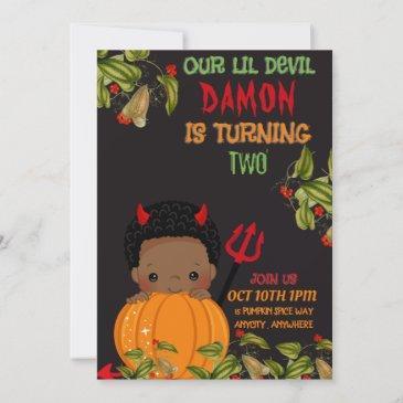 our lil devil birthday invitation
