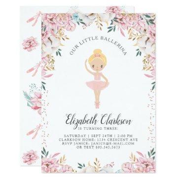 our little ballerina birthday invitations