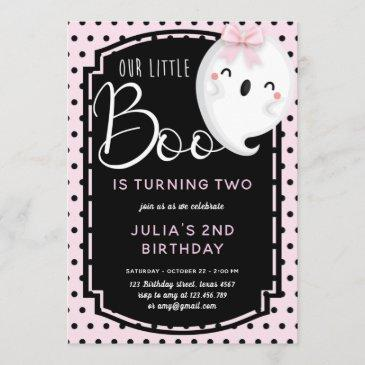 our little boo girl birthday invitation
