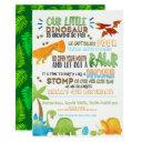 our little dinosaur kids birthday invitation