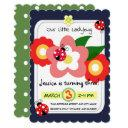 our little ladybug birthday invitation