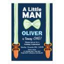 our little man birthday invitations boy bow tie