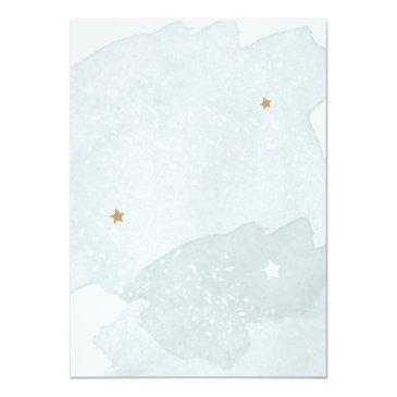 Small Outer Space Planets Boy First Birthday Invitation Back View
