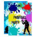 paintball 13th birthday invitation