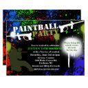 paintball party birthday invitation