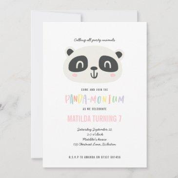 panda cute bright multicolor birthday