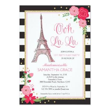 paris birthday invitations / paris birthday invite