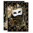 paris masquerade birthday party invitations