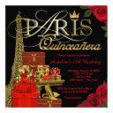 paris quinceanera invitations
