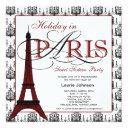 paris sweet sixteen party invitations
