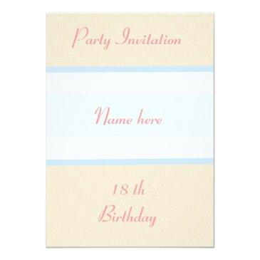 party invitations 18th birthday personalize