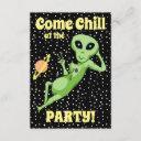 peace alien party invitation