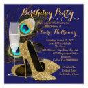 peacock birthday party invitation