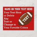 personalized cheap football invitations, your text invitation postinvitations