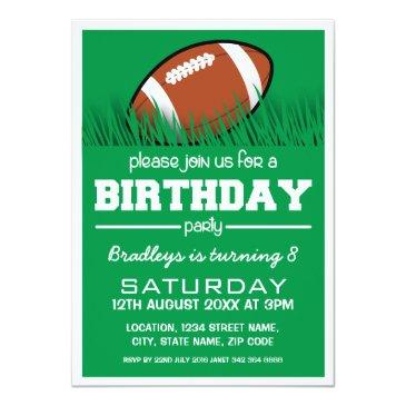 personalized kids football birthday invitations