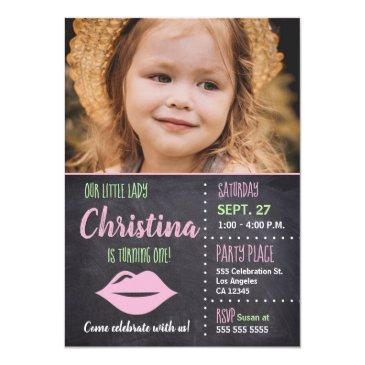 Little Lady Birthday Invitations