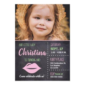 Little Lady Birthday Invitations