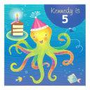 personalized octopus birthday invitation