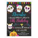 personalized sugar skull birthday party invitation