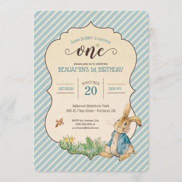 peter rabbit | baby's first birthday invitation