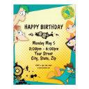 phineas and ferb birthday invitations