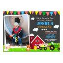 photo farm birthday invitation barnyard birthday