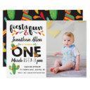 photo fiesta first birthday invitations