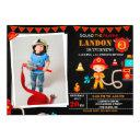 photo firefighter birthday invitation firetruck