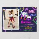photo roller birthday invitation girl party invite