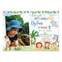 photo safari birthday invitation jungle animal 1st