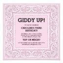 pink bandana | birthday invite