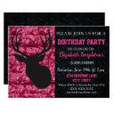 pink camo hunting sweet sixteen birthday invitation
