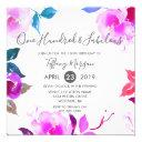 pink floral fabulous 100th birthday party invitation