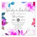 pink floral ninety & fabulous 90th birthday party invitations