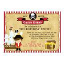 pirate birthday invitations (with ship & map)