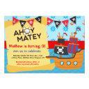 pirate birthday party, ahoy matey invitations