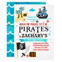 pirate birthday party invitations pirates