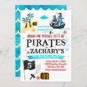 pirate birthday party invitation pirates