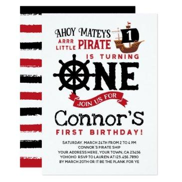 pirate first birthday invitations