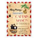 pirate map party birthday invitation