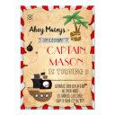 pirate map party birthday invitations