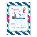 pirate or mermaid any age birthday party invite