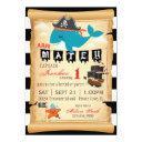 pirate whale and starfish birthday invitations