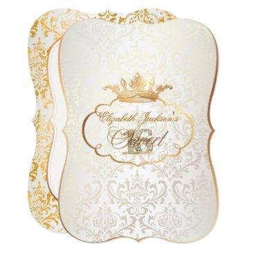pixdezines sweet 16/princess/rossi damask invitation