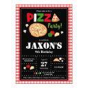 pizza party birthday invitation boys
