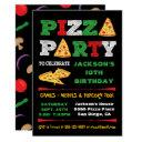 pizza party slice birthday party invitation