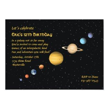 planets in space invitations