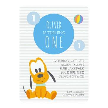 pluto | first birthday invitation