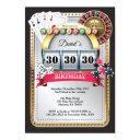 poker playing invitations casino gold birthday invitation
