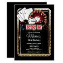 poker playing invitations, casino party invite